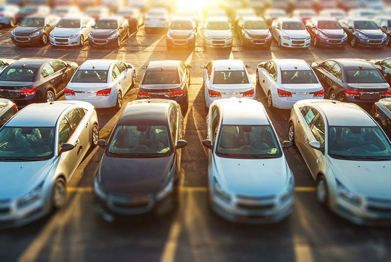 cars in lot