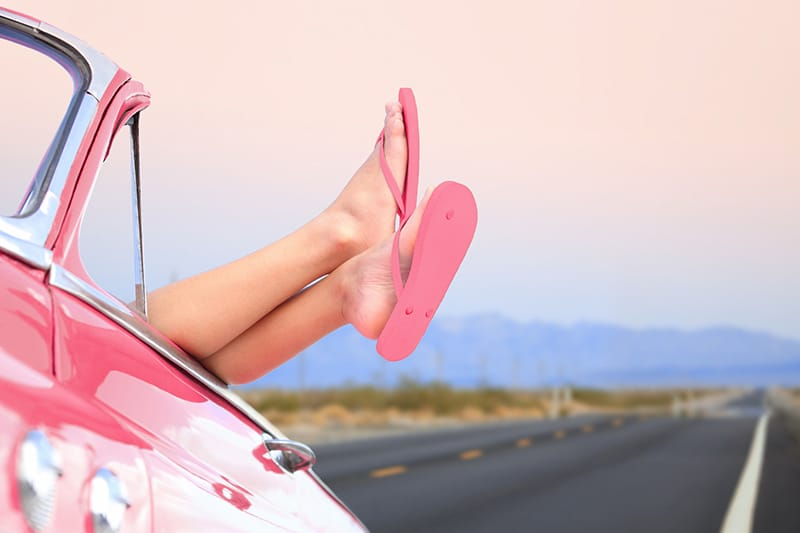 Smart Snacking Tips for Your Summer Road Trip someone enjoying a road trip