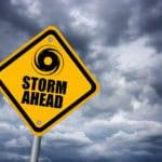 a storm ahead sign