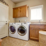 a washing machine in a house