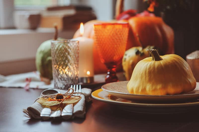 a thanksgiving looking table