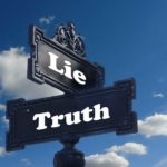 two signs, one is lie, one is truth