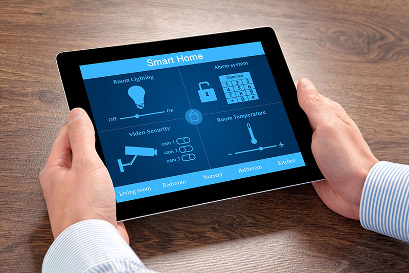 smart home technology on an ipad