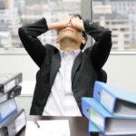 someone stressed at work