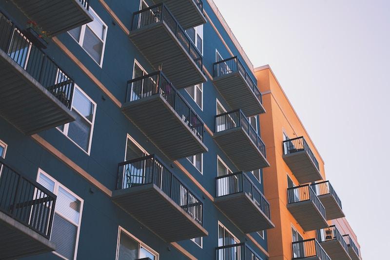 a block of apartment complex