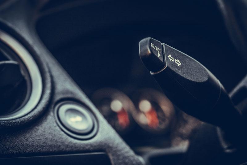 a signal in a car